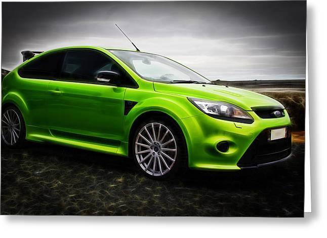 Ford Focus Rs Greeting Card