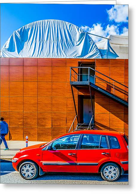 Ford Fusion Greeting Card by Alexander Senin