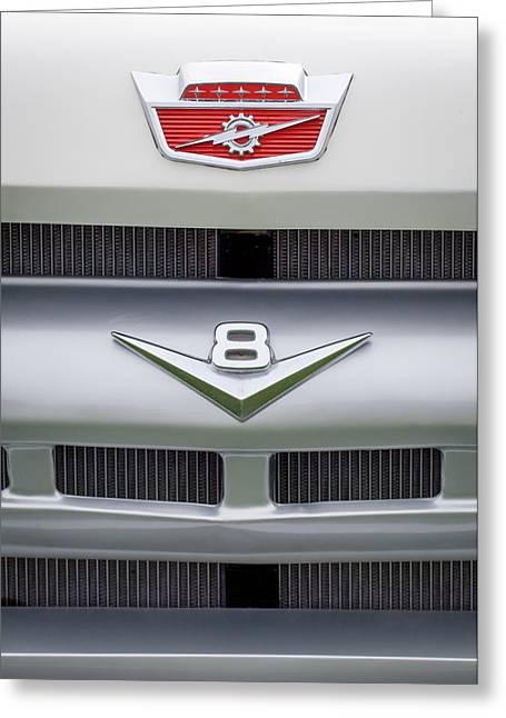 Ford Grille V8 Custom Cab Emblem  Greeting Card