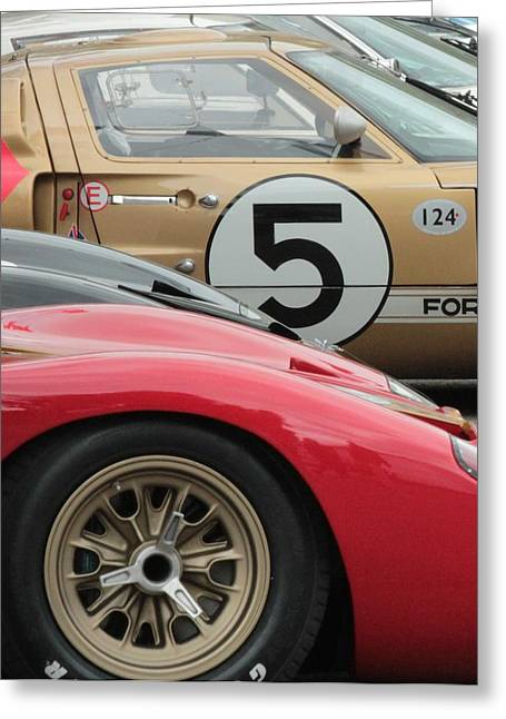 Ford Gt 40's Greeting Card