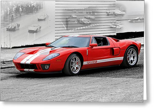 Ford Gt And Gt40 Memories Greeting Card