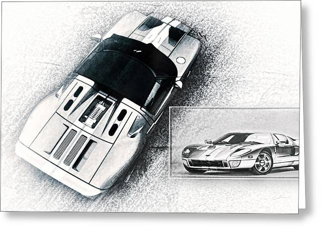 Ford Gt Greeting Card by Peter Chilelli