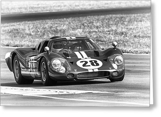 Ford Gt40 Black White Greeting Card