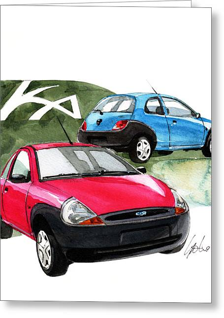 Ford Ka Greeting Card