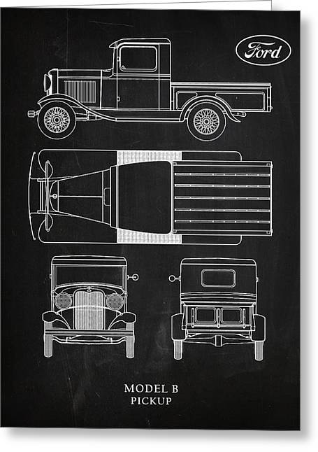 Ford Model B Pickup Greeting Card