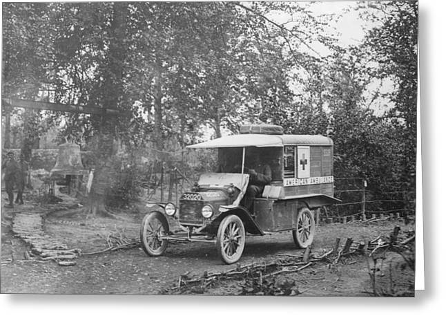Ford Model T Ambulance Greeting Card by Library Of Congress