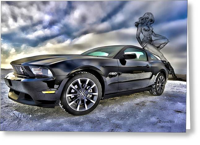Ford Mustang - Featured In Vehicle Eenthusiast Group Greeting Card by EricaMaxine  Price