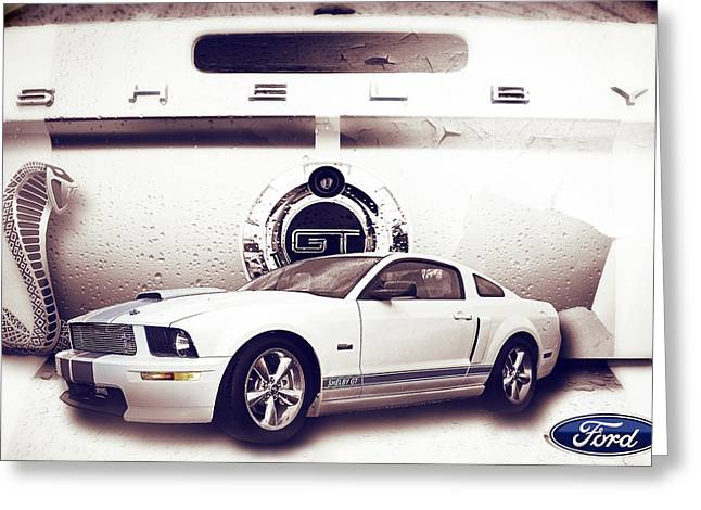 Ford Mustang Shelby Gt  Greeting Card by Gray  Artus