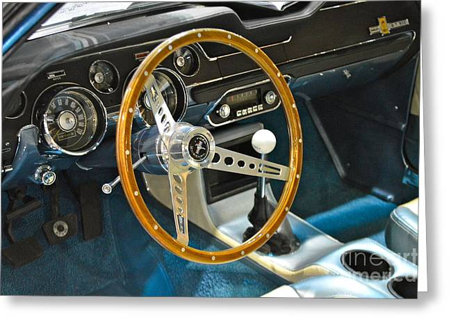 Ford Mustang Shelby Greeting Card by Pamela Walrath