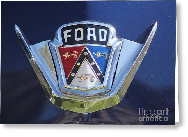 Ford On Blue Greeting Card