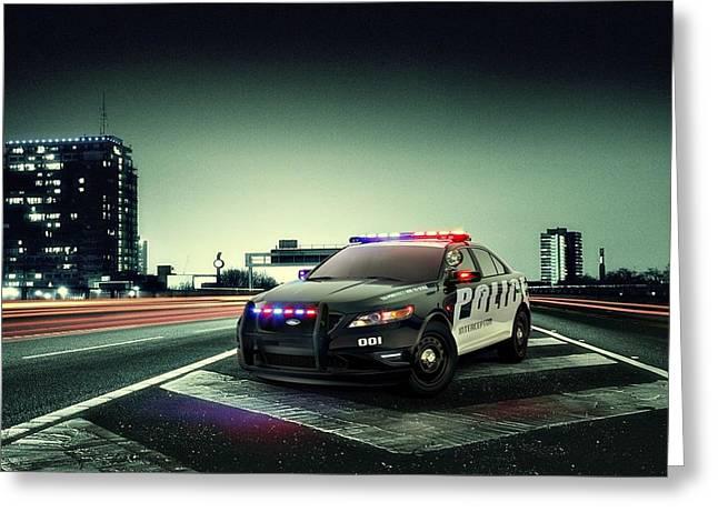 Ford Police Interceptor Greeting Card