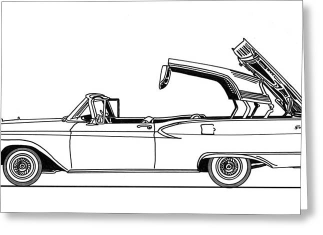 Retractable Ford Top Going Down Greeting Card by Jack Pumphrey