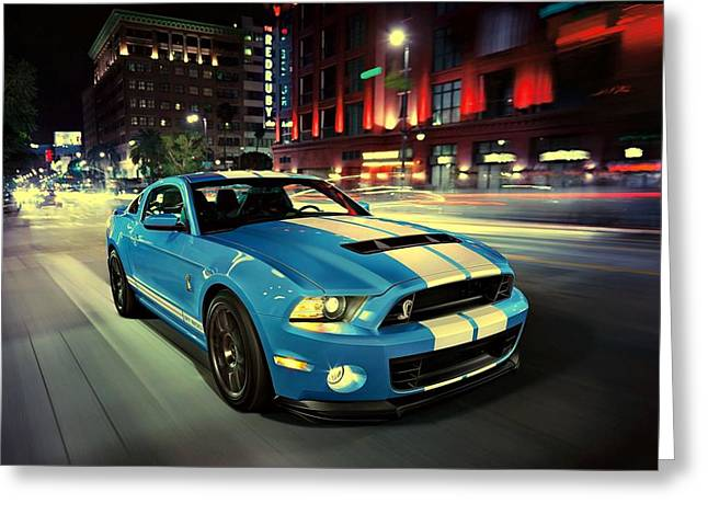 Ford Shelby Gt500 2014 Greeting Card