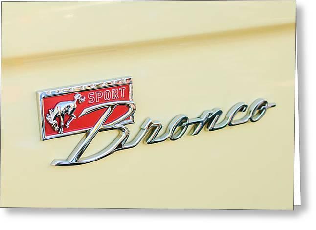 Ford Sport Bronco Emblem Greeting Card by Jill Reger