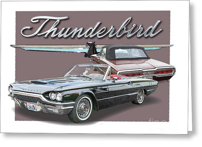 Ford Thunderbirds 1964 Greeting Card by Dan Knowler