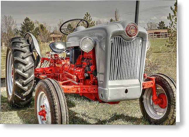 Ford Tractor Greeting Card by Peter SPAGNUOLO
