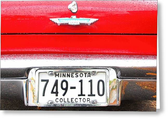 Ford With Minnesota Licence Plate Greeting Card by Amanda Stadther