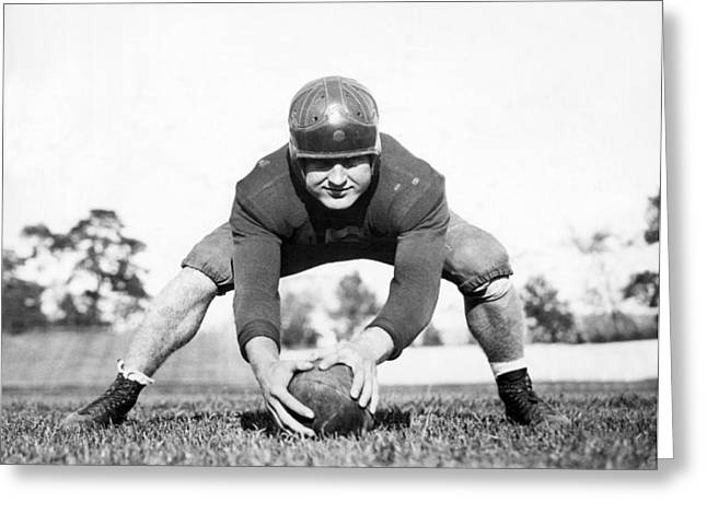 Fordham Football Center Greeting Card by Underwood Archives