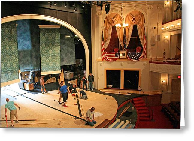 Ford's Theater Where The Show Must Go On Greeting Card by Cora Wandel