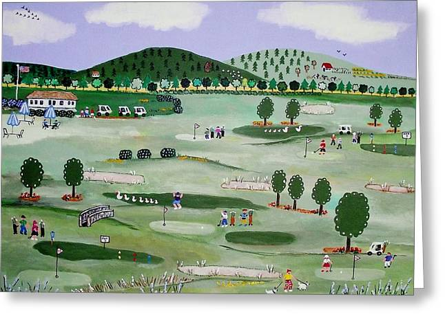 Dorset Vermont Golf Course Greeting Card
