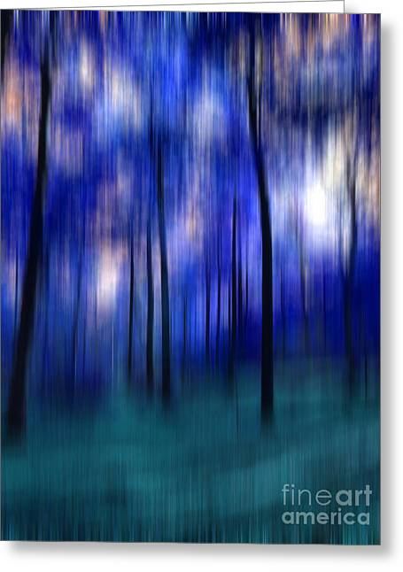 Forest Abstract 2 Greeting Card by Angela Bruno