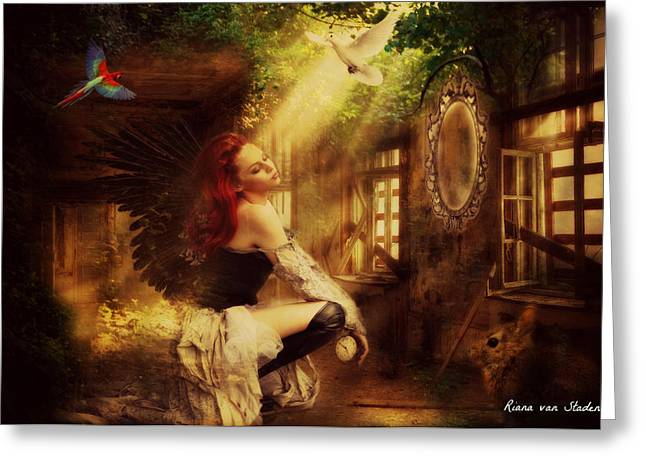 Forest Angel  Greeting Card by Riana Van Staden