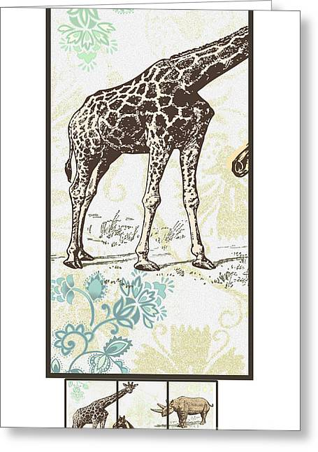 Forest Animals Group Suitable For Hanging Frames Greeting Card by Art World