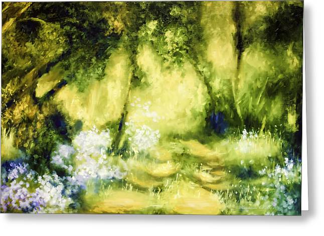 Forest Bluebells Greeting Card