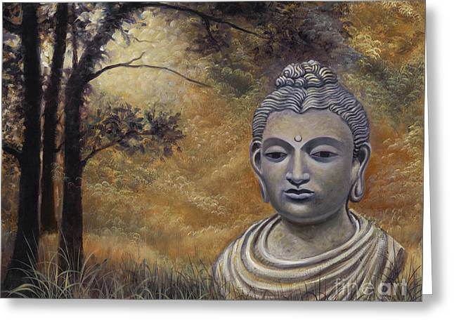 Forest Buddha Greeting Card