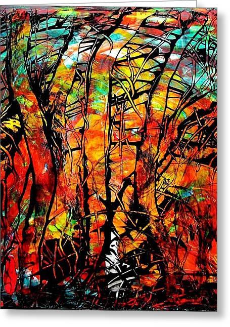 Forest Greeting Card by Carolyn Repka