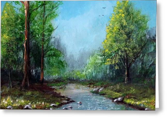 Forest Creek Greeting Card by Kenny Henson