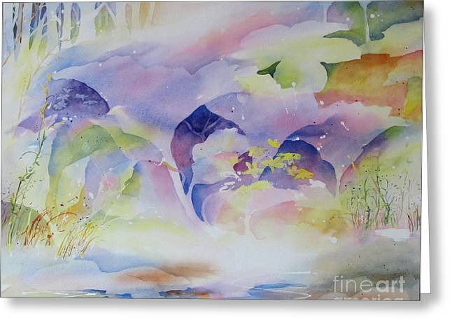 Greeting Card featuring the painting Forest Dream by John Nussbaum