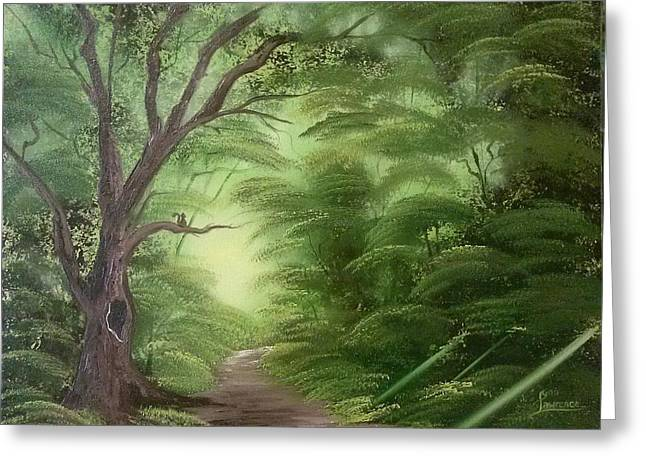 Forest Edge Greeting Card by Lynn Lawrence
