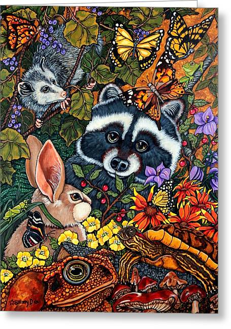 Forest Fantasy Greeting Card by Sherry Dole