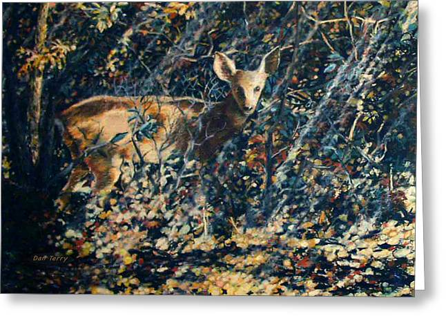 Forest Fawn Greeting Card by Dan Terry