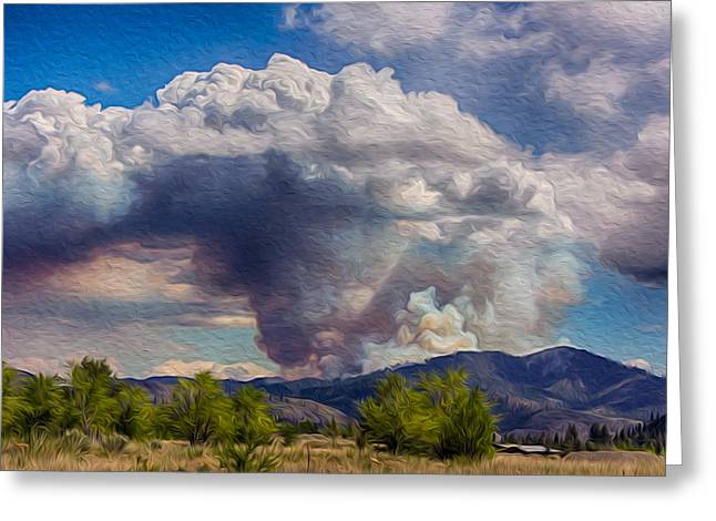 Forest Fire South Of Twisp Greeting Card by Omaste Witkowski