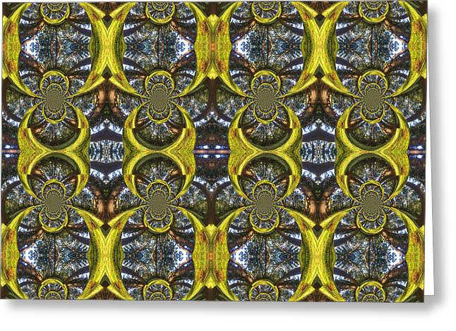 Forest Fractal Greeting Card by Beverly Claire Kaiya