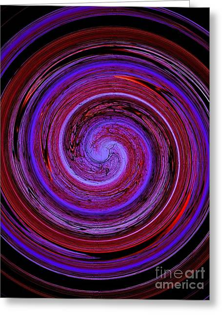 Forest In Spirale Greeting Card by Jessie Art