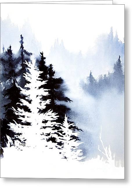 Forest Indigo Greeting Card