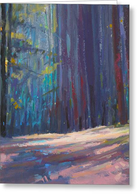 Forest Light Greeting Card by Ed Chesnovitch