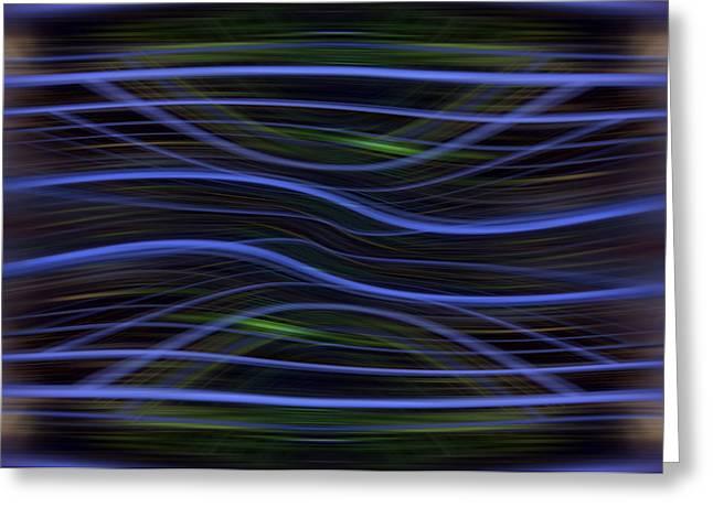 Forest Light Enhanced Greeting Card by Florin Birjoveanu