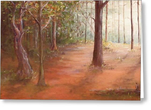 Forest Light Greeting Card by Kelci Pauk