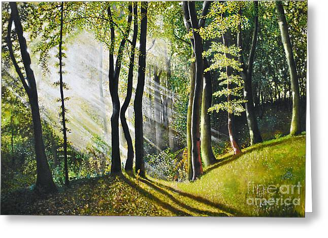 Forest Oil Painting Greeting Card