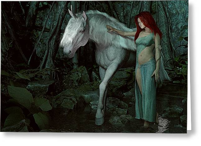Forest Of Enchantments Greeting Card by Maynard Ellis