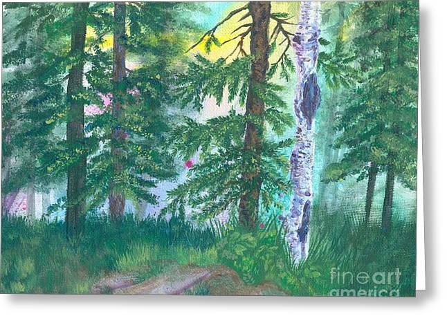 Forest Of Memories Greeting Card