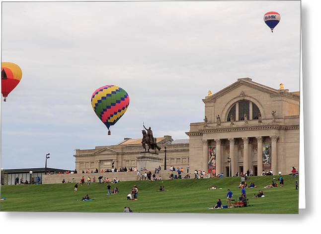 Forest Park Balloon Race Greeting Card by Scott Rackers