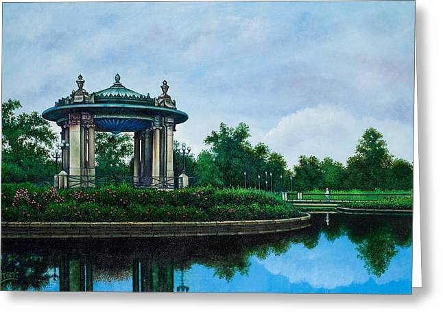 Forest Park Muny Bandstand II Greeting Card