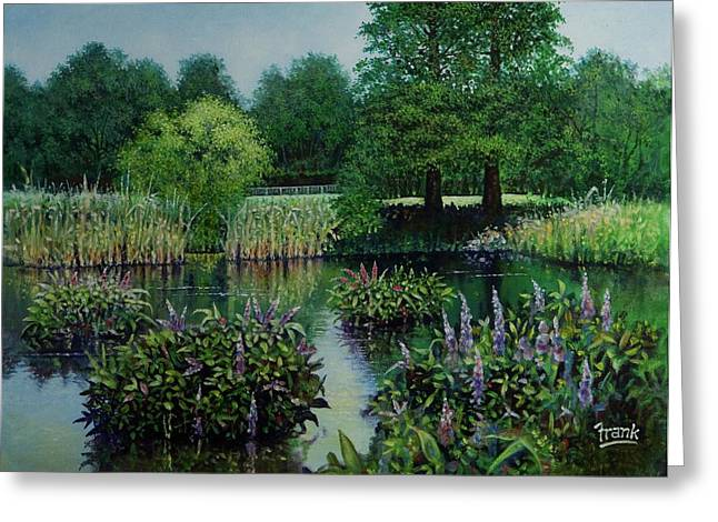 Forest Park Pond Scene Greeting Card