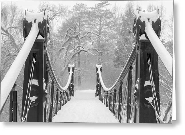 Forest Park Victorian Footbridge Greeting Card