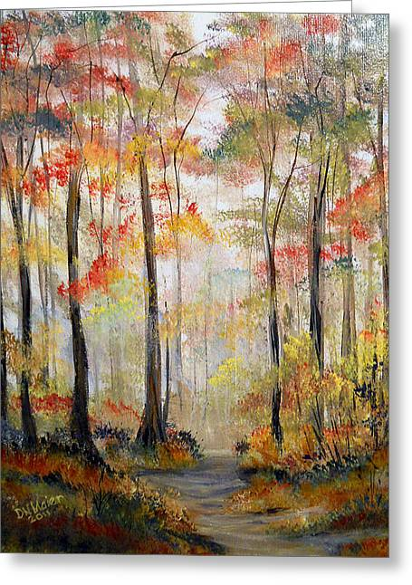 Forest Path Greeting Card by Dorothy Maier